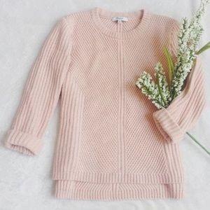 Madewell blush pink knit sweater
